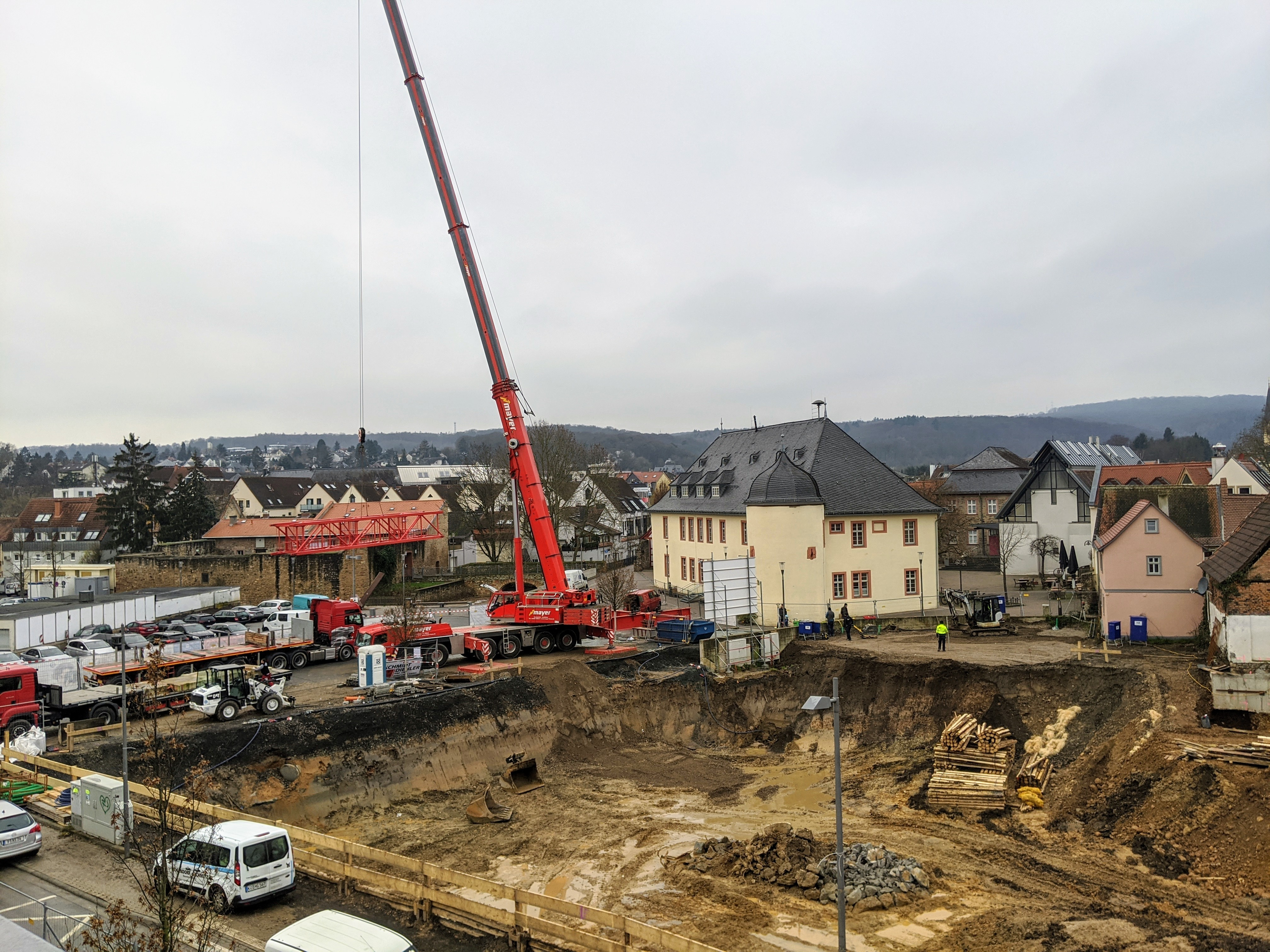 200114 PM Baustelle stadtbuecherei start rohbau